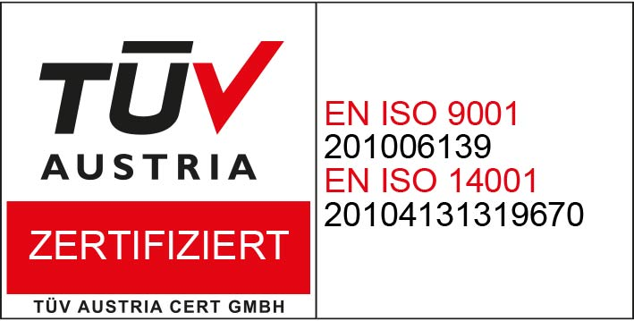 EN ISO 9001; EN ISO 14001 Pharma Glas
